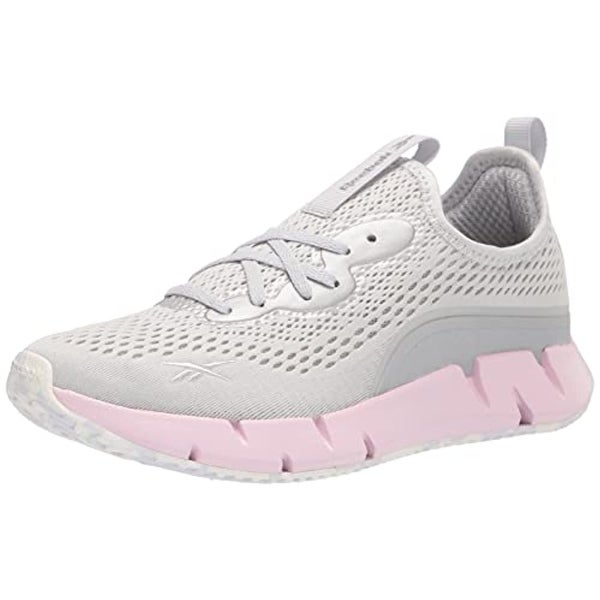 Reebok Women's Zig Sky Sneaker, Pure Grey/Frost Berry/White. Opens flyout.