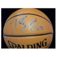 Signed Howard Dwight Spalding IndoorOutdoor Basketball in light blue ink autographed