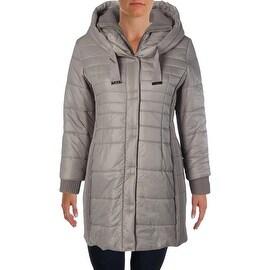 T Tahari Womens Plus Down Hooded Packable Coat - 1X