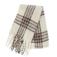 CTM® Women's Soft Blanket Scarf with Fringe - One size