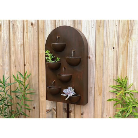 "Carnation Rusty Red 31-inch Indoor andOutdoor Wall Fountain - 7"" x 31"""