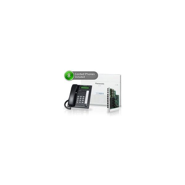 Panasonic KX-TA824-7730-5CO 8 Pack KX-TA824 Phone System + KX-TA82483 Exp. Card + KX-T7730 Corded Phones