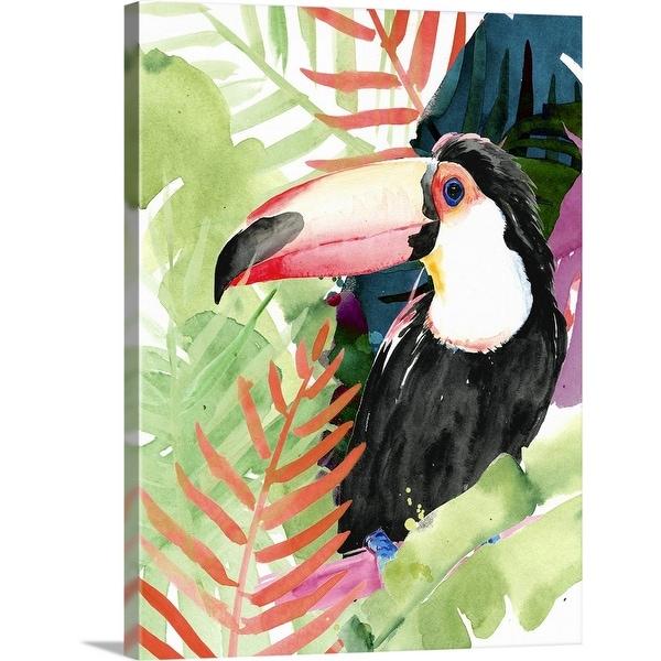 """Toucan Palms I"" Canvas Wall Art"
