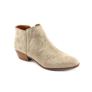 Sam Edelman Petty Women Round Toe Suede Gray Ankle Boot
