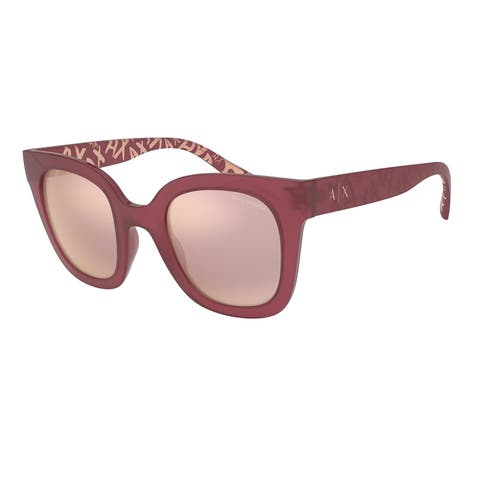 Armani Exchange AX4087S 82926X 49 Opal Eggplant Woman Irregular Sunglasses