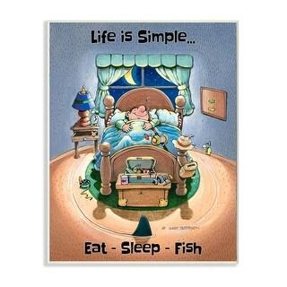 Link to Stupell Industries Eat Sleep Fish Funny Sports Fishing Cartoon Design Wood Wall Art Similar Items in Wood Wall Art