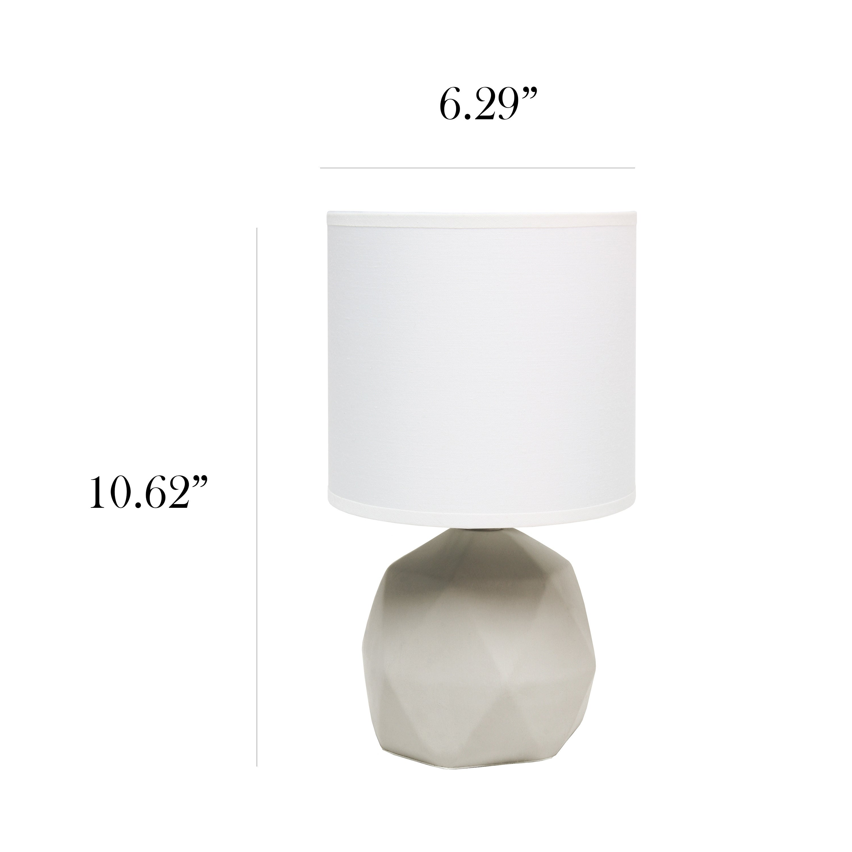 Simple Designs Geometric Concrete Lamp Overstock 31451986
