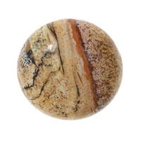 Desert Jasper Gemstone Round Flat-Back Cabochons 25mm (1 Piece)