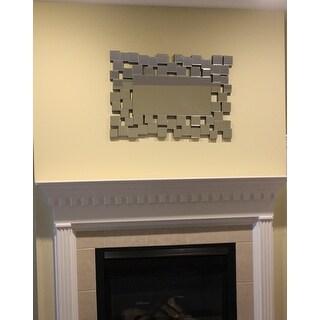 Abbyson Aiden Rectangle Wall Mirror - Silver