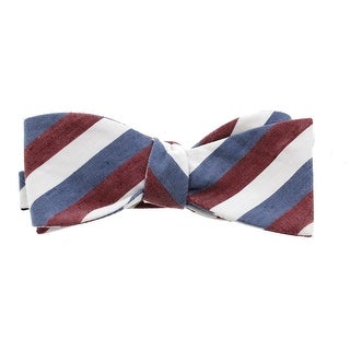 Countess Mara Mens Striped Silk Blend Bow Tie - o/s