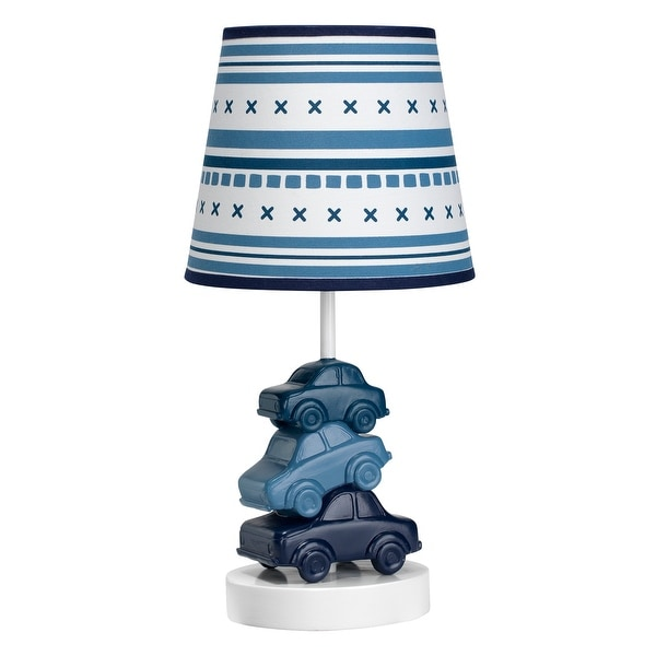 Lambs Ivy Blue Metropolis Nursery Lamp With Shade Bulb