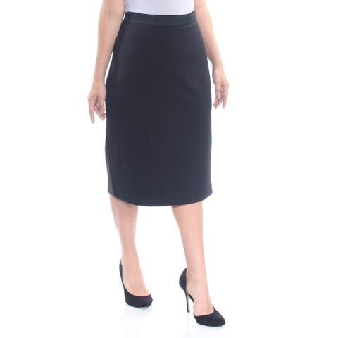 ALFANI Womens Navy Midi Pencil Wear To Work Skirt Size: XL