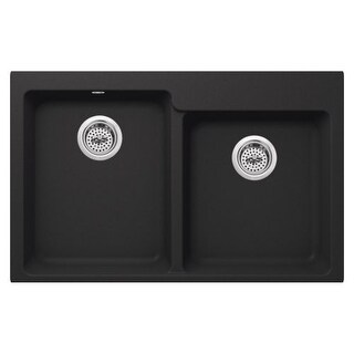 "Miseno MGR33226040 Carolina 33"" Double Basin Undermount Granite Composite Kitche"
