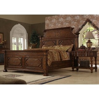 Burgundy Wooden Eastern King Bed