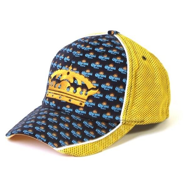 6f3f06c645459 Shop Corona Extra Crown La Cerveza Mas Fina Flexible Fitted Hat ...