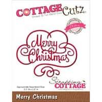 "Merry Christmas 3.3""X2.5"" - Cottagecutz Elites Die"