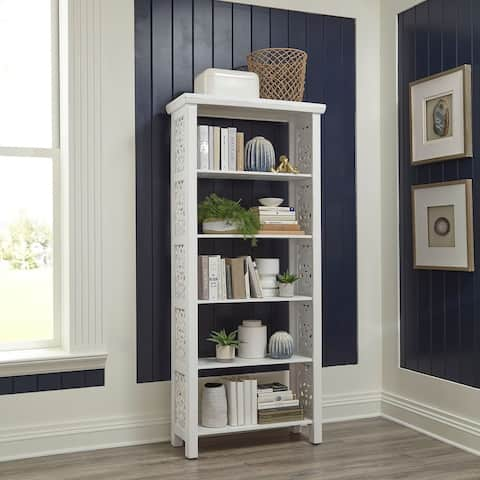 Trellis Lane Weathered White Accent Bookcase