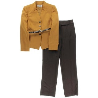 Tahari ASL Womens Petites Yvette Pant Suit 2PC Colorblock