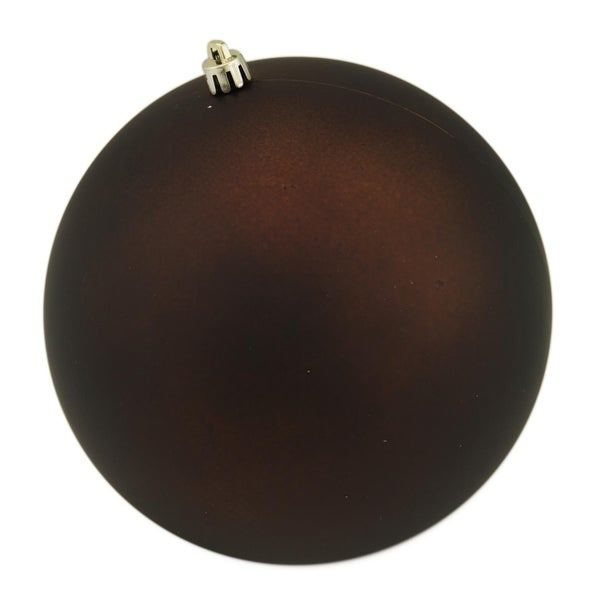 "Matte Copper Brown UV Resistant Commercial Shatterproof Christmas Ball Ornament 6"" (150mm)"