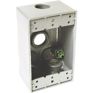 Hubbell 1Gang Wht Outdoor Box 5321-6 Unit: EACH