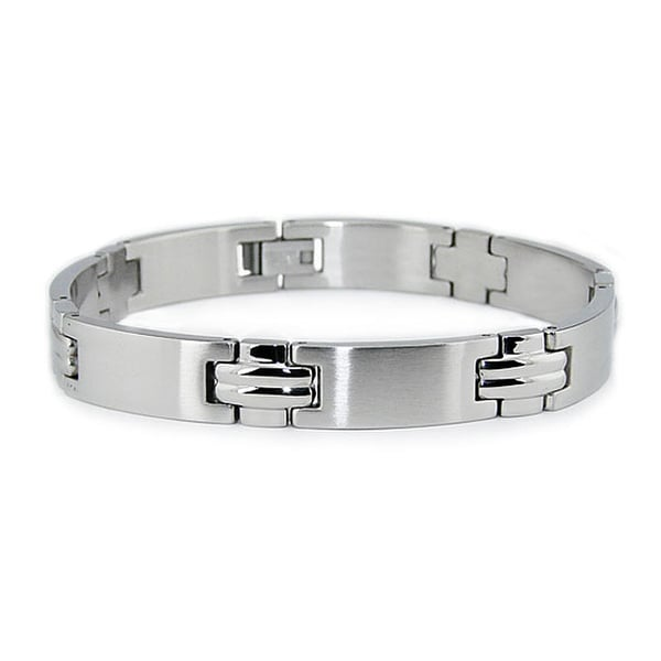 Stainless Steel Men's Link Bracelet (10mm) 8.5 Inches