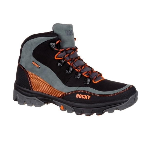 Rocky Outdoor Boots Mens Endeavor Point WP Hiker Black Orange RKS0313