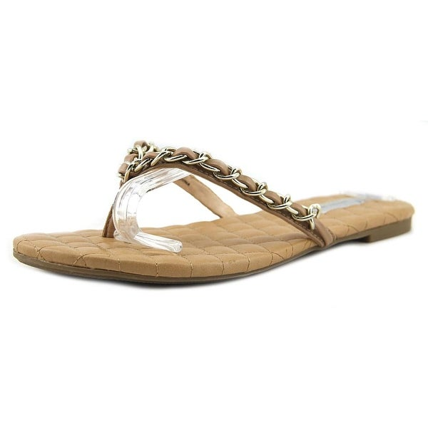 INC International Concepts Maceo Women Open Toe Synthetic Tan Thong Sandal