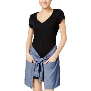 Material Girl Womens Juniors Casual Dress Sheath Mini