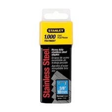 "Stanley TRA706SST Heavy Duty Staples 3/8"", Stainless Steel"