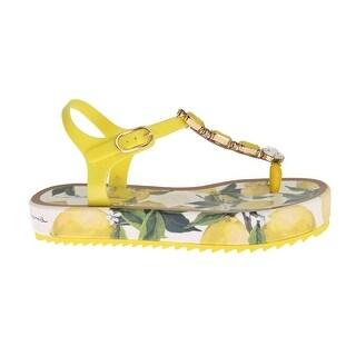 Dolce & Gabbana Dolce & Gabbana Lemon Crystal Beachwear Sandals