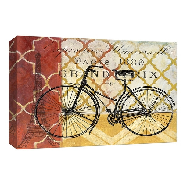 "PTM Images 9-148008 PTM Canvas Collection 8"" x 10"" - ""Cyclisme I"" Giclee Eiffel Tower Art Print on Canvas"
