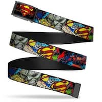 Superman Shield Pop Fcg Black Reds Yellows Bo Black New 52 Superman Web Belt - L