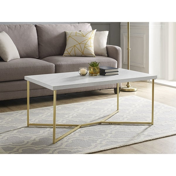 Shop Offex 42 Quot Mid Century Modern Y Leg Coffee Table