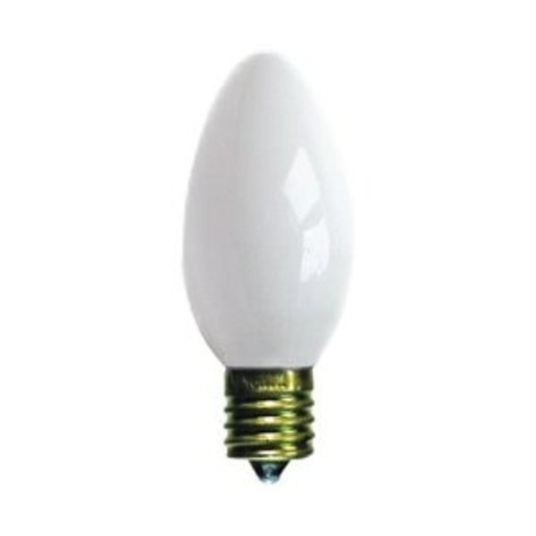 pack of 4 opaque ceramic white c9 christmas replacement bulbs - Christmas Replacement Bulbs