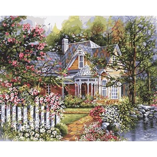 "Paint By Number Kit 16""X20""-Victorian Garden"