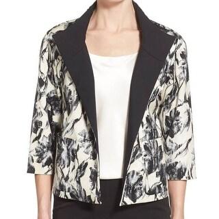 Lafayette 148 NEW Beige Women's Size Medium M Darian Abstract Jacket