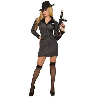 Forum Novelties Sexy Lady Gangster Adult Costume (XS/S) - Black - X-Small/Small