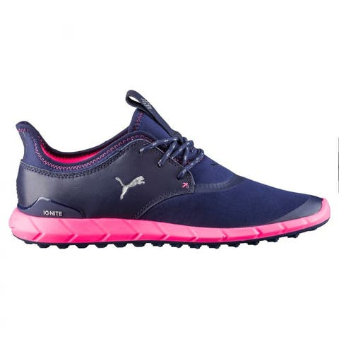 Puma Women's Ignite Spikeless Sport Golf Shoes Peacoat/Silver/Knockout Pink 189422-03