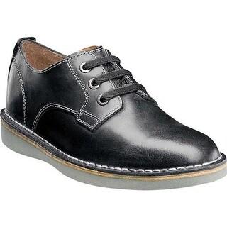 Florsheim Boys' Navigator Plain Toe Oxford Jr. Black Leather