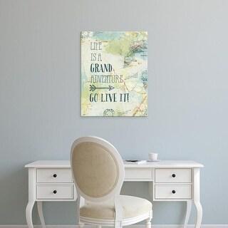 Easy Art Prints Katie Pertiet's 'Map Sentiments IV' Premium Canvas Art