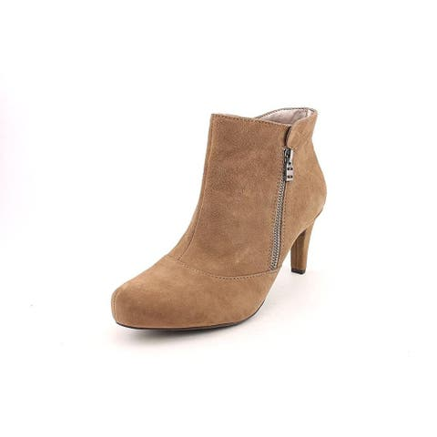 Easy Spirit Womens Doremi Leather Pointed Toe Ankle Fashion Boots