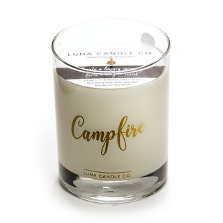 Campfire Scented Premium Candle, Natural Soy Wax Long Clean Burn,11 Oz