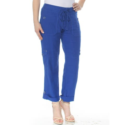 INC Womens Blue Pull On Cargo Pants Size 4