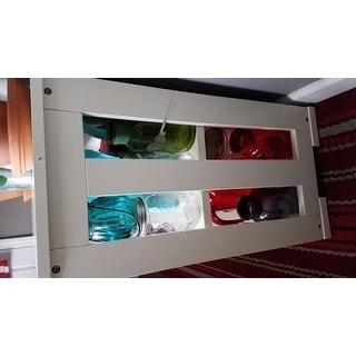 Simple Living Antique White Sliding Door Stackable Cabinet - 25 x 42 x 13