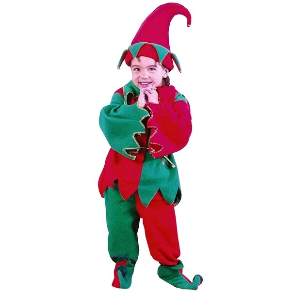 6-Piece Toddler's Christmas Elf Costume Set - Size 24M - 2T - multi