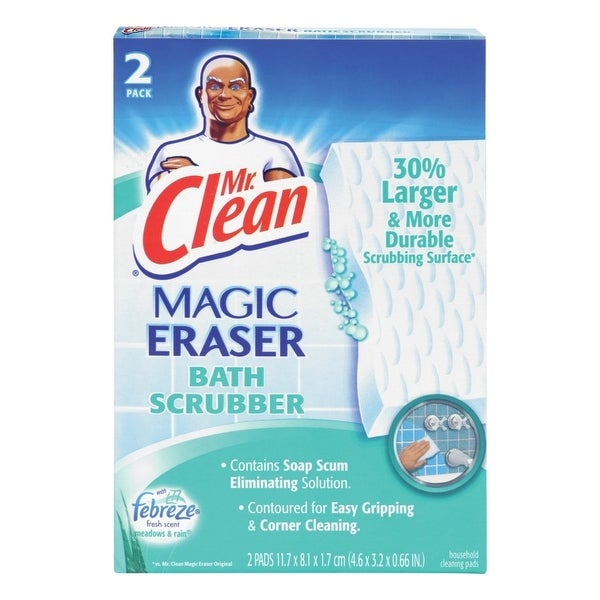 Mr. Clean 27141 Magic Eraser Bath Scrubber, 2-Count