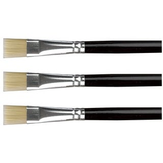 Sax Phoenix Golden Synthetic Nylon Paint Brushes, Flat, Size 10, Pack of 3