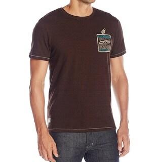 Buffalo David Bitton NEW Brown Mens Size Medium M Graphic Tee T-Shirt