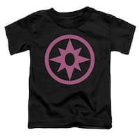 Green Lantern-Pink Emblem Short Sleeve Toddler Tee, Black -