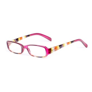 Womens Striped Rectangle Reading Glasses